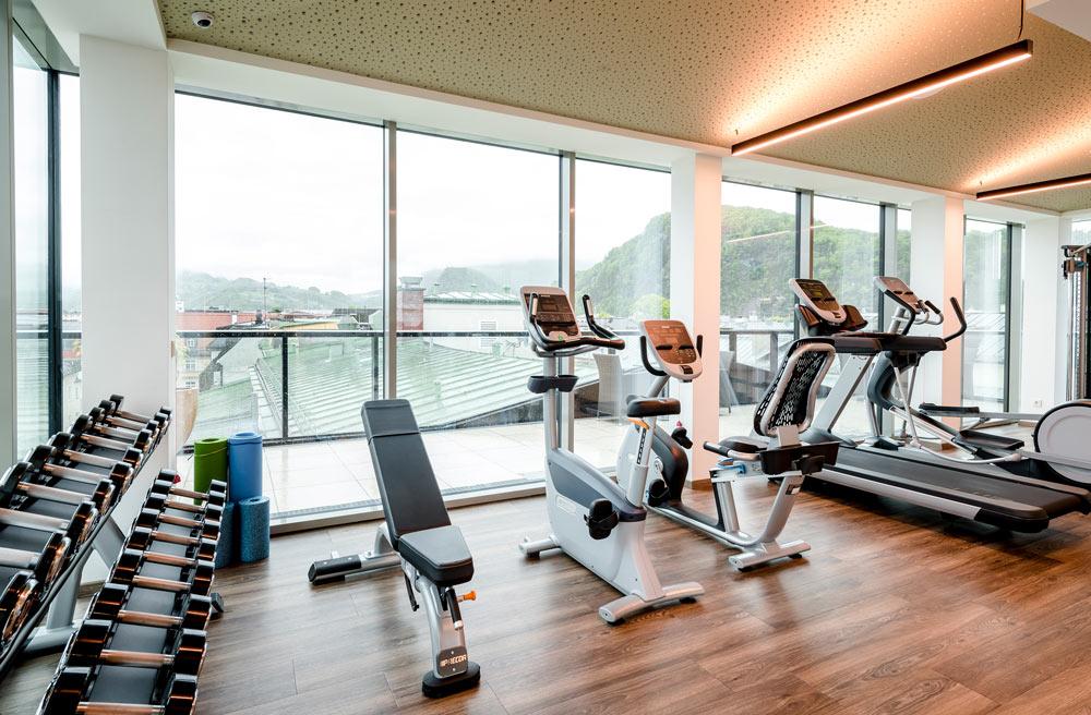 Fitnessraum IMLAUER HOTEL PITTER Salzburg
