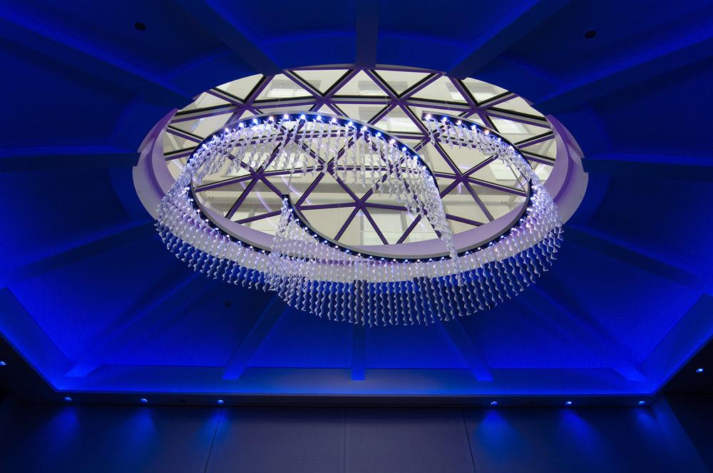 Beleuchtete Glaskuppel IMLAUER HOTEL PITTER Salzburg
