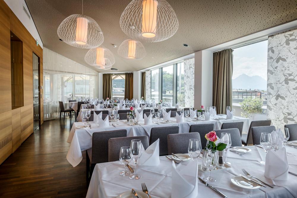 Dinner mit Ausblick IMLAUER HOTEL PITTER Salzburg