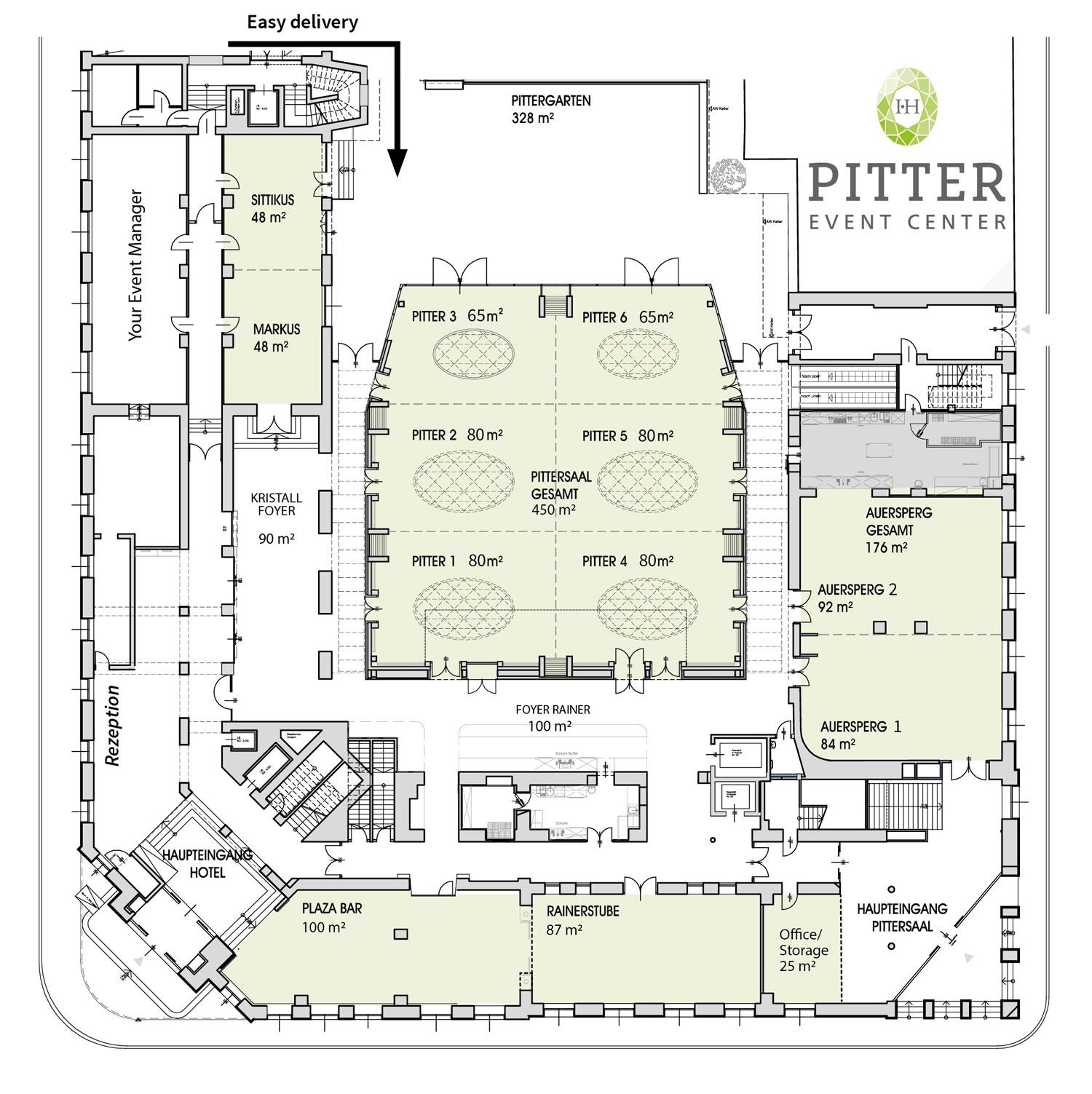Bauplan IMLAUER HOTEL PITTER Salzburg