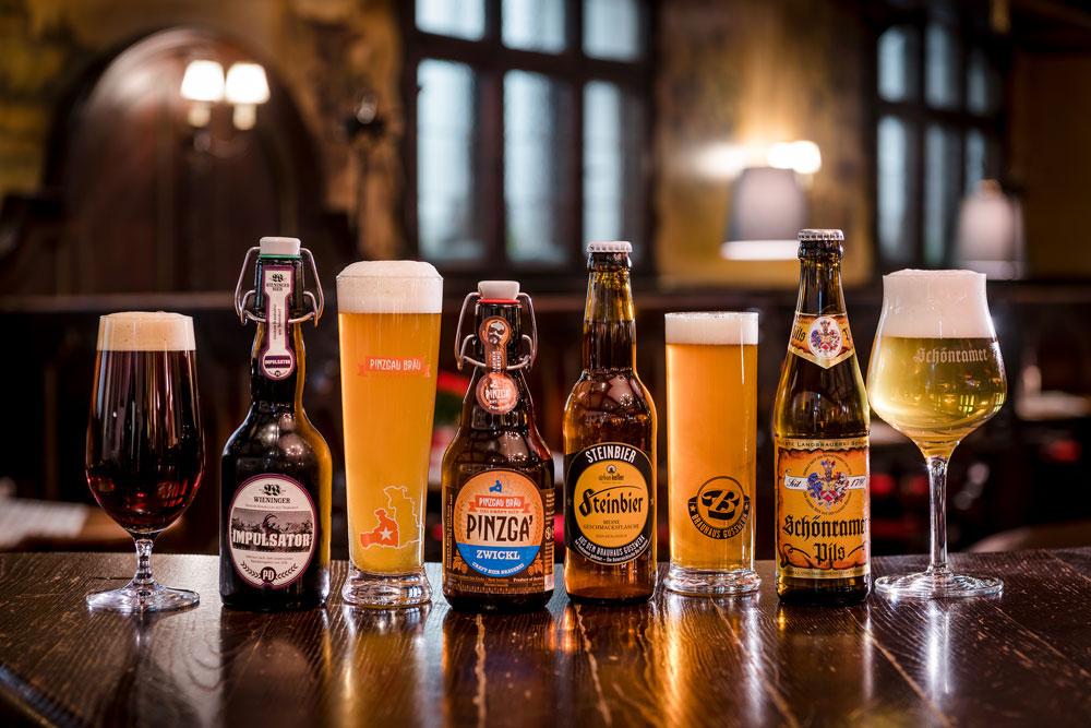 vielfältige Bierauswahl IMLAUER HOTEL PITTER Salzburg